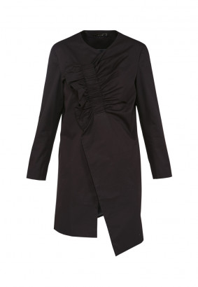 Frill Placket Coat