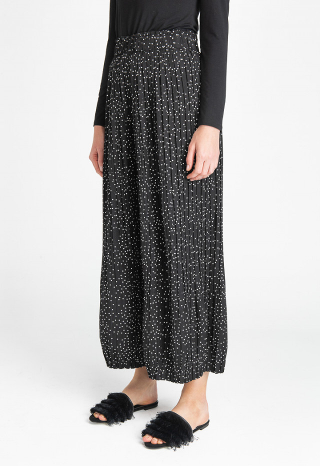 Polka Dot Pleated Culottes