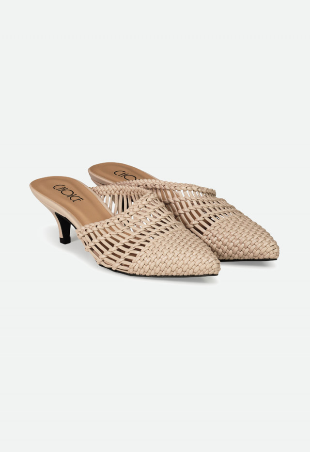 Braided Pointed Mules
