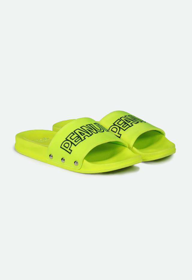 Peanuts Neon Yellow Sliders
