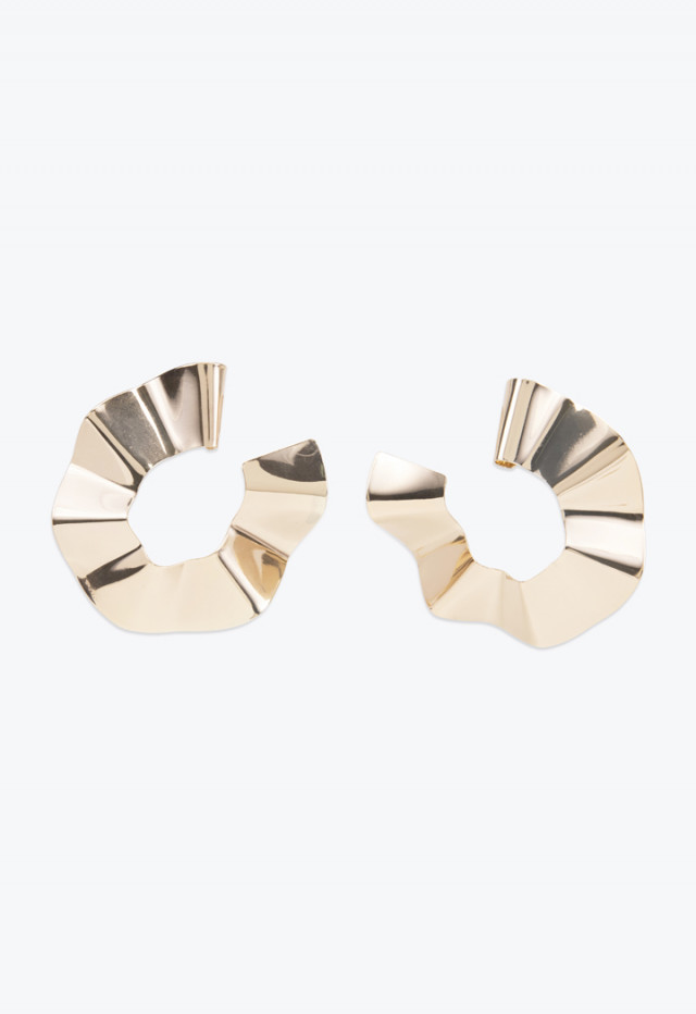 Geometric Gold Tone Earrings