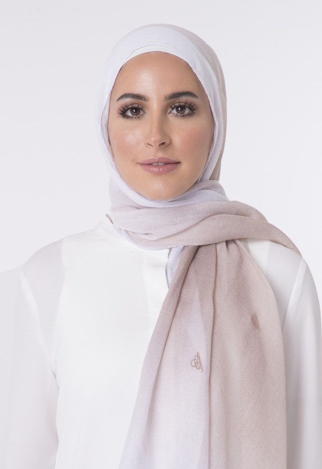 Double Shaded Linen Hijab