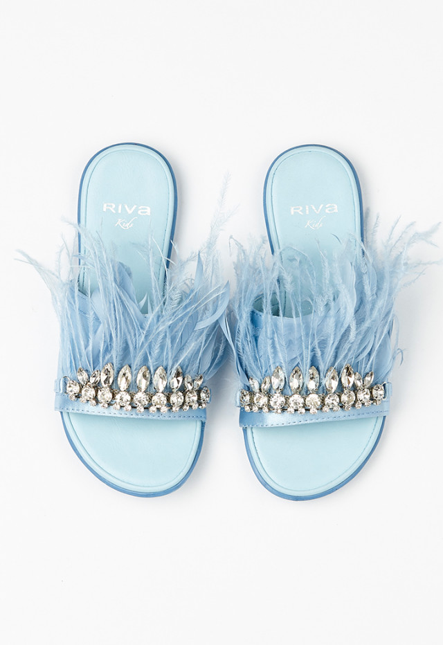 Feather Stud Sandals