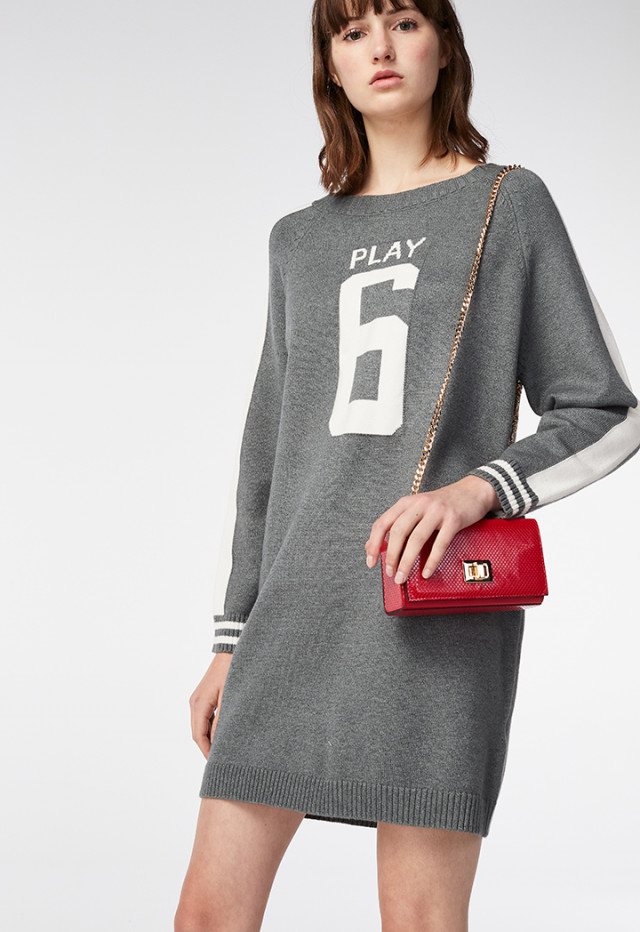 Sporty Knitwear Dress