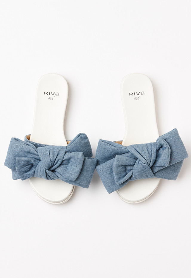 Tied Bow Slip-On Slippers
