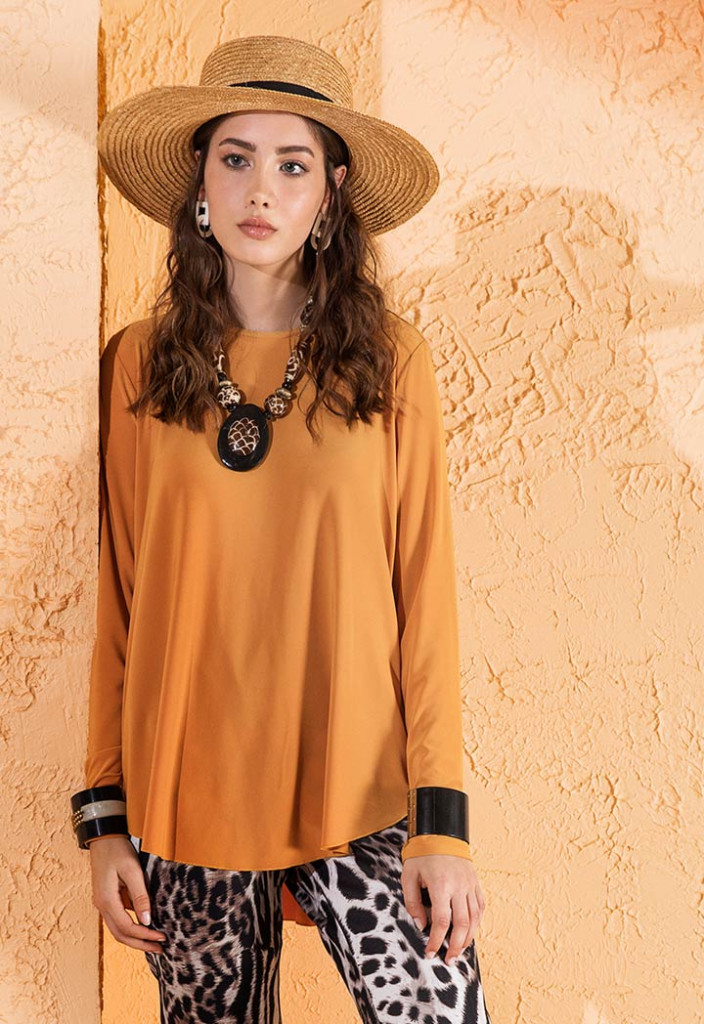 High Low Long Sleeve Blouse