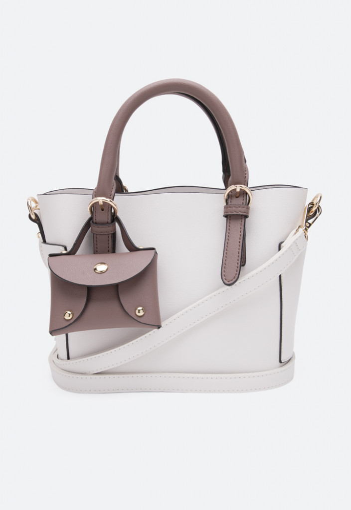 Dual Handle Tote Bag With Inner Pouch