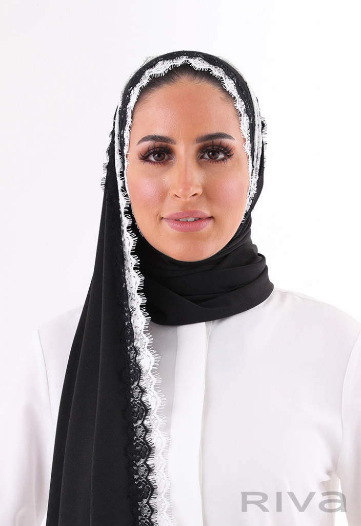 Cotton Double Layered Lace Hijab