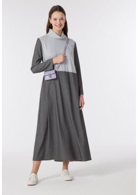 High neck Colorblock Abaya