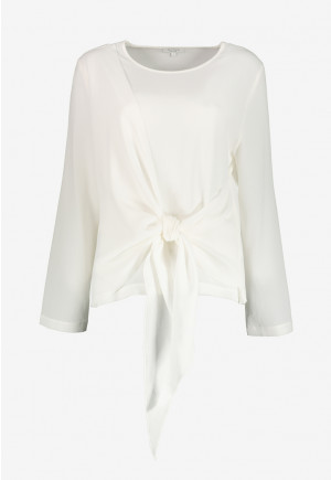 Front Knot Detail Blouse
