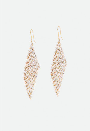 Diamond Shape Dangle Drop Earrings