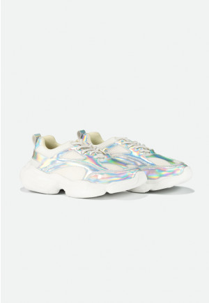 Holographic Mesh Sneakers