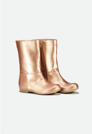 Metallic Calf Boots