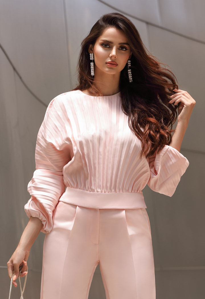 Pleated Pastel Blouse