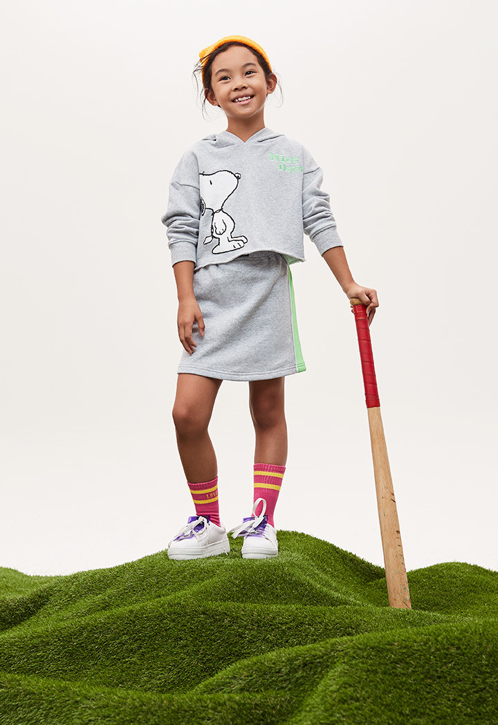 Snoopy Skirt And Jacket Set