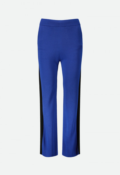 Side Tape Contrast Knitted Pants