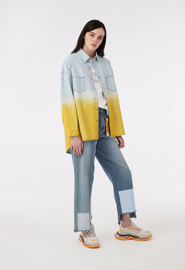 Gradient Dye Denim Shirt