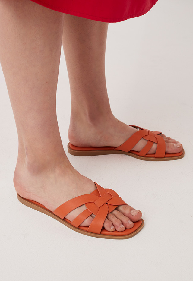 Orange Detail Strap Slip On