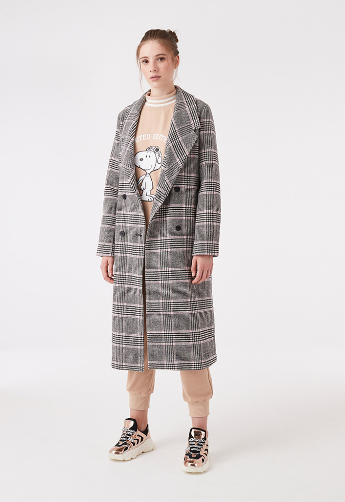Plaid Double Breasted Outerwear