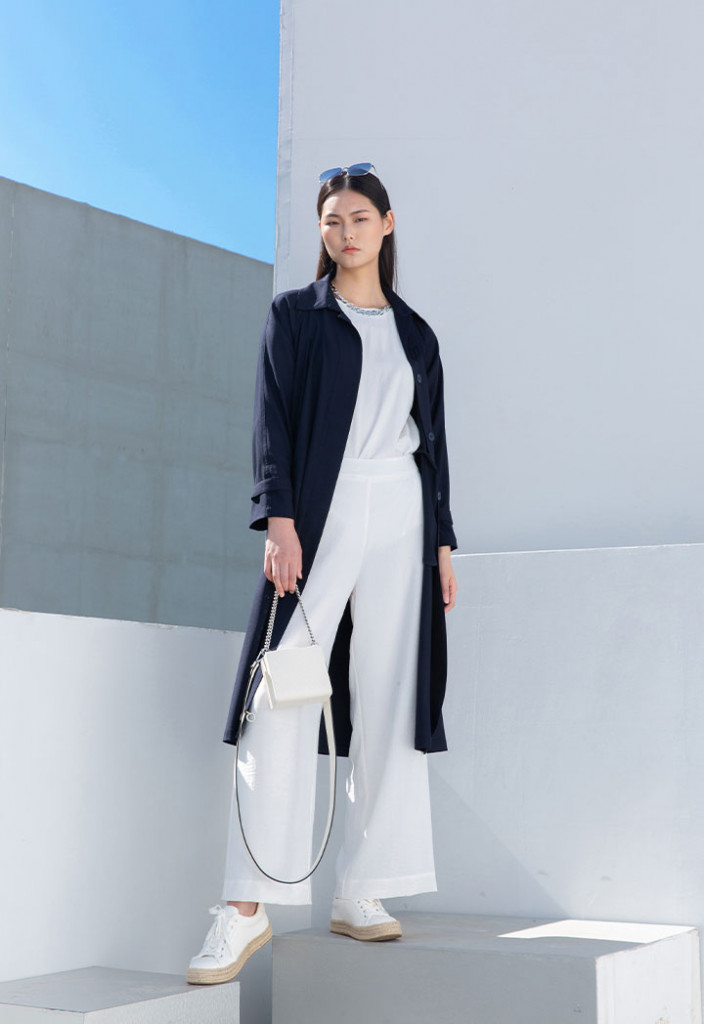 Solid Long Outerwear