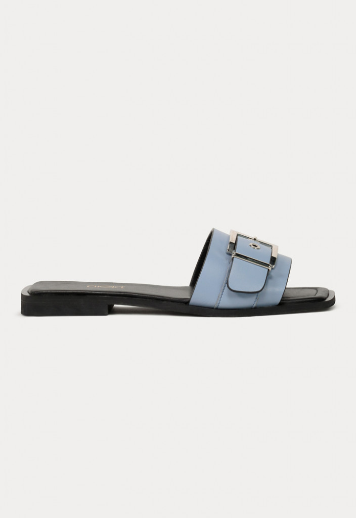 Single Buckled Strap Flat Sandals
