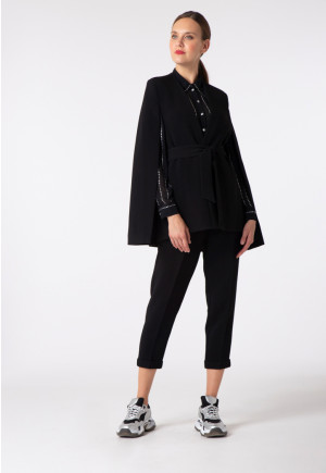 Belted Cape Jacket