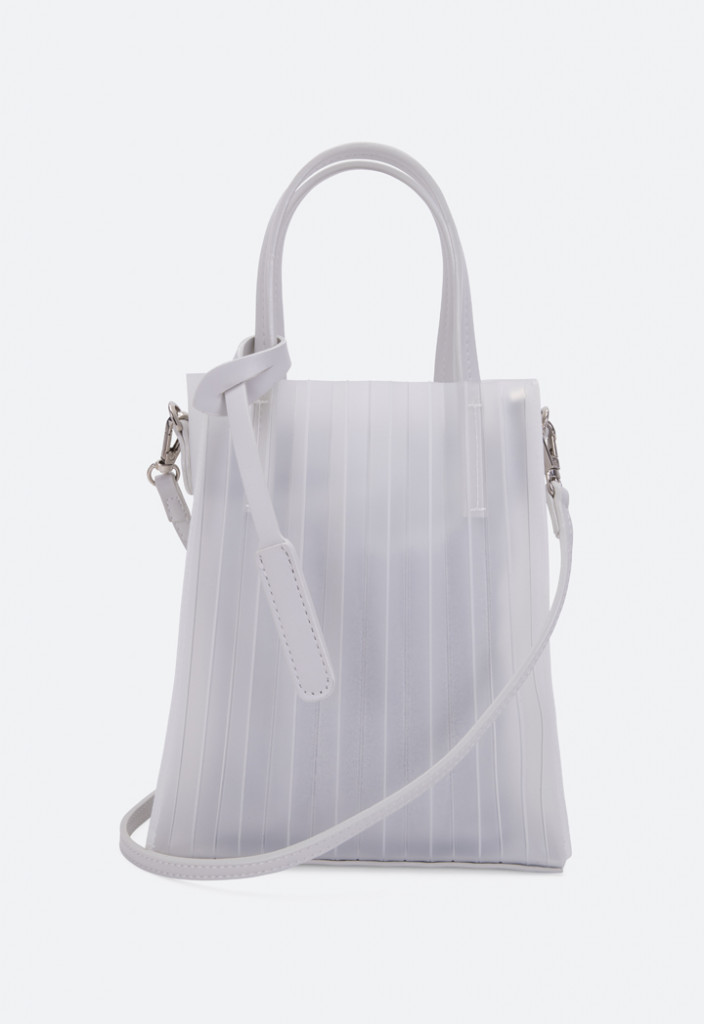 Pleated Silicone Tote Bag