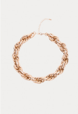 Gold Tone Multi Chain Link Necklace
